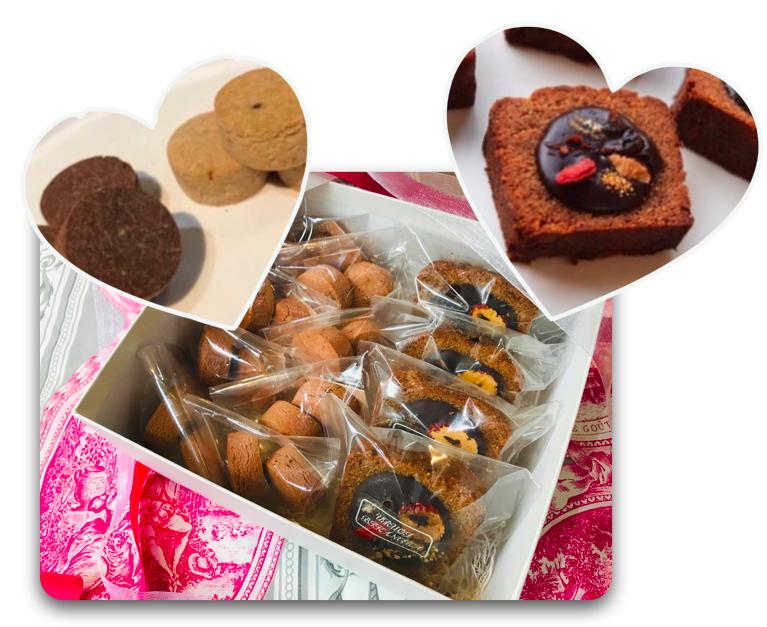 210119バレンタインクッキー&チョコパウンドケーキ